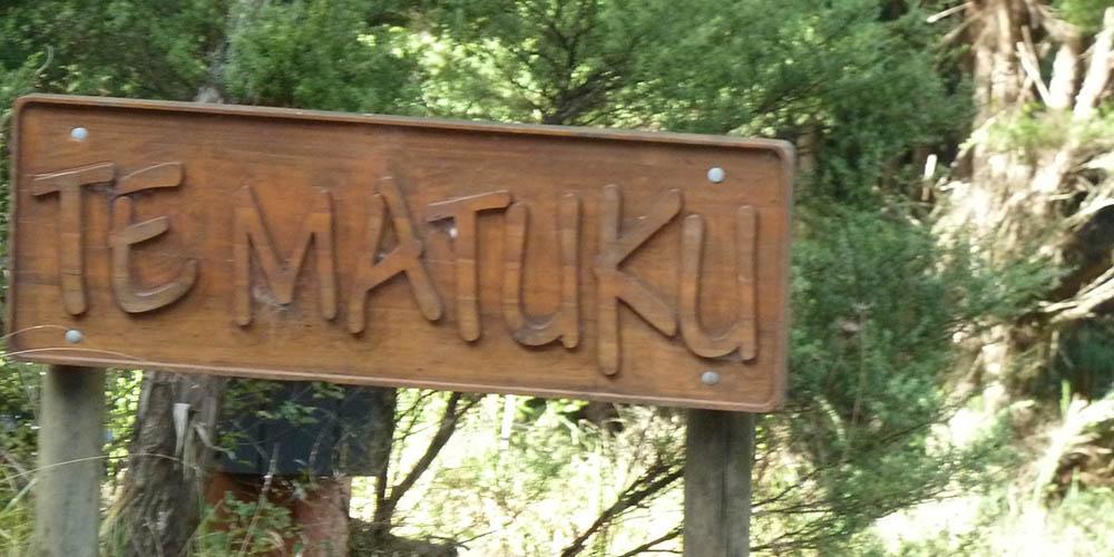 Te Matuku sign1